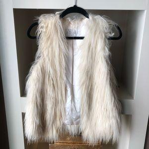 ADORE White Faux Fur Vest